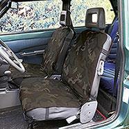 Coppia Coprisedili Auto Universali Woodland Kalibro