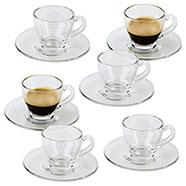Set 6 Tazzine da caffè con Piattino