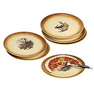 Set 6 Piatti Pizza Ceramica Country