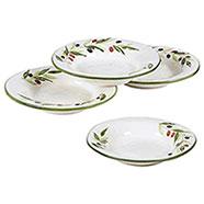 4 Piatti Terracotta Fondi   Serie Olive