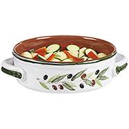Tegame Terracotta con Coperchio  Serie Olive 27