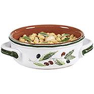 Tegame Terracotta con Coperchio  Serie Olive 21