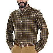 Camicia Beretta Sport Classic Brown and Yellow Fancy