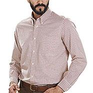 Camicia Beretta Classic Beige and Red Check