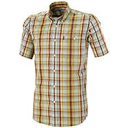 Camicia Beretta Drip Dry Short Green & Bordeaux Check