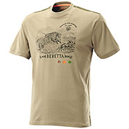T-Shirt Beretta Wild Boar Diamond Sand