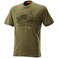 T-Shirt Beretta Wild Boar Diamond Green
