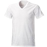 T-Shirt White Collo V