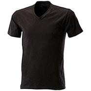 T-Shirt Black Collo V