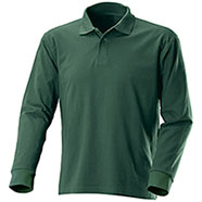 Polo M/Lunga Fruit of the Loom Verde Foresta