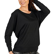 T-Shirt Long Sleeve Donna Black