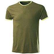 T-Shirt Trendy Army Green Yellow Fluo