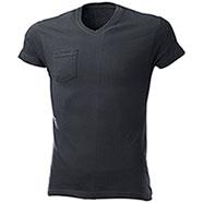T-Shirt One Pocket Black