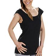 T-Shirt Donna  Longer Black