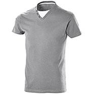 """T-Shirt Collo a """"V"""" Button Light Grey"""