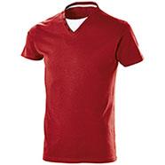 "T-Shirt Collo a ""V"" Button Red"