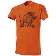 T-Shirt Cinghiale New I am...BigHunter Orange