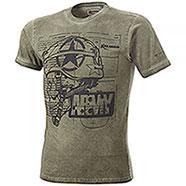 T-Shirt Kalibro Vintage Skull Army Green