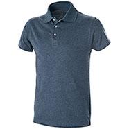 Polo Jersey Blu Denim