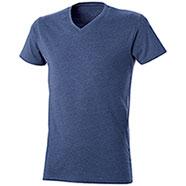 T-Shirt Mélange Effect Blu
