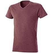 T-Shirt Mélange Effect Red Burgundy