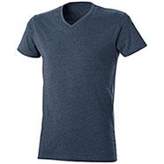 T-Shirt Mélange Effect Blu Denim