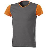 T-Shirt Trendy Bicolor Orange Grey
