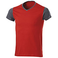 T-Shirt Trendy Bicolor Red Grey