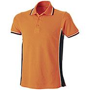 Polo Piquet Orange-Black