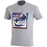 T-Shirt Air Force US Grey