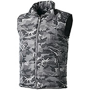 Gilet Imbottito New Camouflage Grey