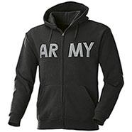 Felpa con cappuccio Full Zip New Army Black