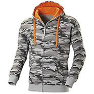 Felpa Full Zip Camouflage Grey