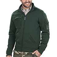 Felpa Full Zip Multiutility Green