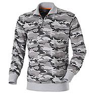 Felpa Mezza Zip Camouflage Grey