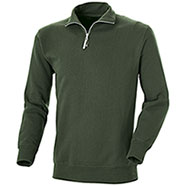 Felpa Lupetto Mezza Zip Green