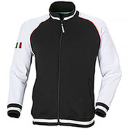 Felpa Full Zip Zurich Black White
