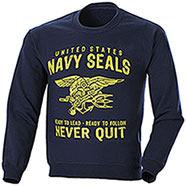 Felpa Girocollo Navy Seals Blu
