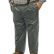 Pantaloni taglie forti  Velluto Grey