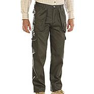 Pantaloni da Caccia Green Foderati Elastico ai Fianchi