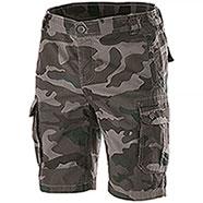 Bermuda Multipockets Camouflage Grey