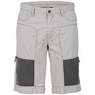 Bermuda Jeep ® Zipped Mesh Pockets Light Grey original