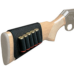 Shotgun butt cartridge pouch