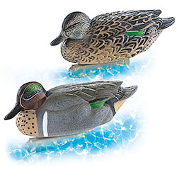 Greenhead High Quality Set 6 Teal Decoys