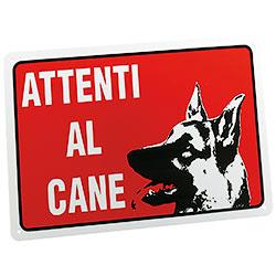 """Targa """"ATTENTI AL CANE"""""""