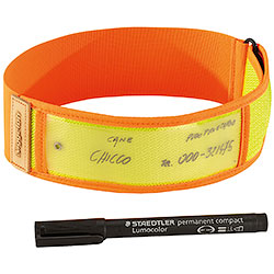 Collare per cani Niggeloh Riflettente Orange Yellow 30/40