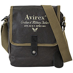 Borsello Avirex Alifax Large Flap Cotone Cerato Waterproof