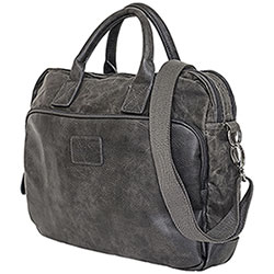 Borsa Avirex RJ90 Briefcase Canvas Texture Stonewash Black-Grey