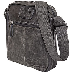 Borsa Tracolla Avirex RJ90 Medium Canvas Stonewash Black-Grey