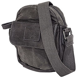 Borsa  Avirex RJ90 Small Canvas Stone Wash Black-Grey